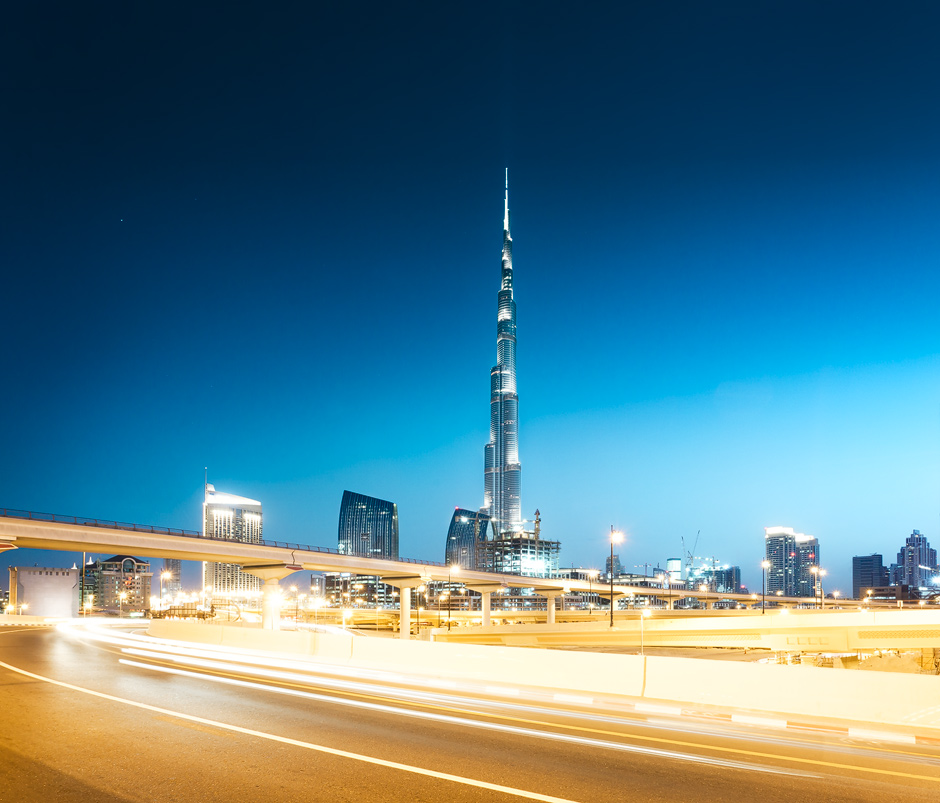 Burj Khalifa blue hour