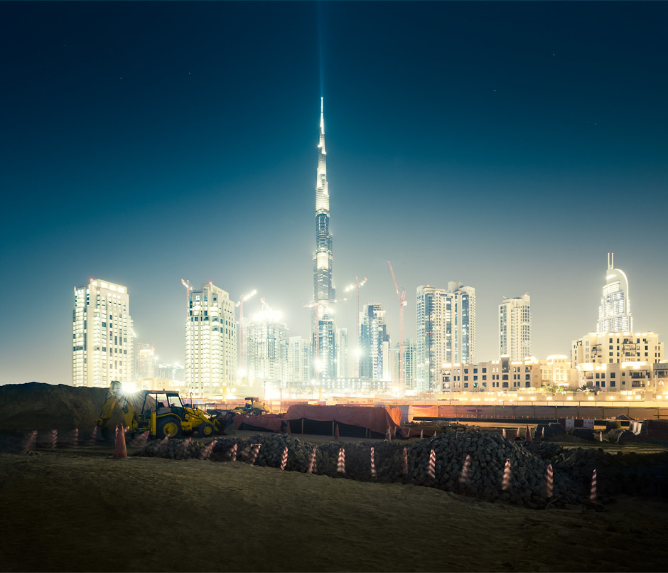 Burj Khalifa building lot