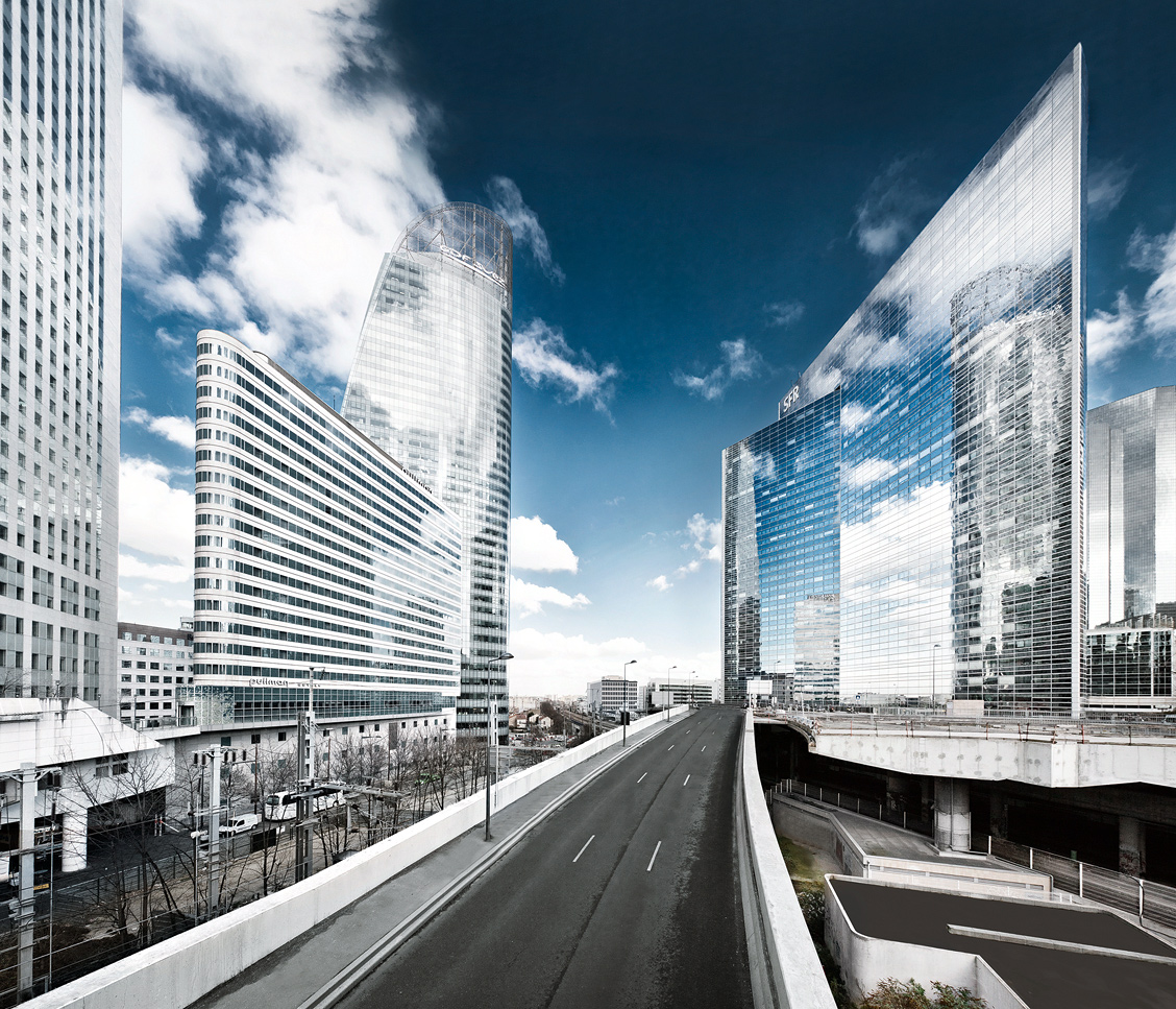Paris La Defense urban
