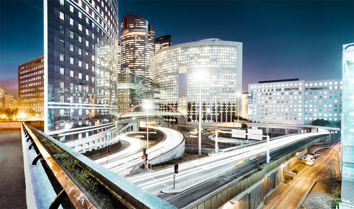 Paris La Defense at Night