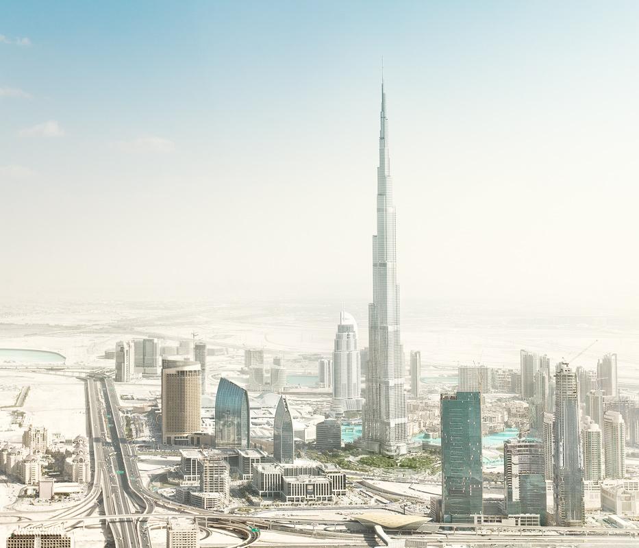 Dubai Aerial Downtown Burj Khalifa