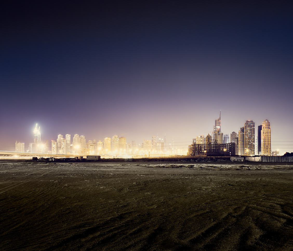 Nightview on Dubai from the desert