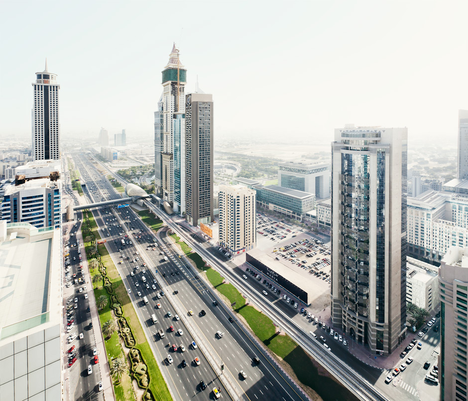 Sheikh Zayed Road Aerial