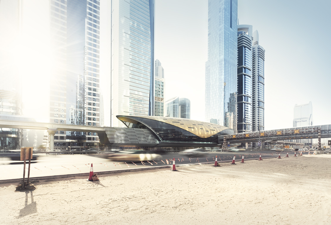 Dubai Metro Station Financial Centre