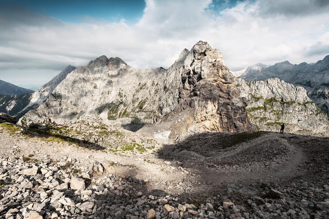Karwendelgebirge, obere Karwendelspitze, Gebirge, Alpen, Weg, Bergwandern