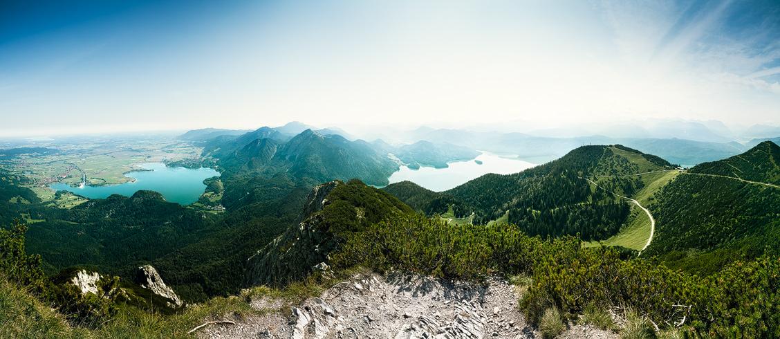 Herzogstand, Ausblick, Panorama, Kochelsee, Walchensee, Alpen