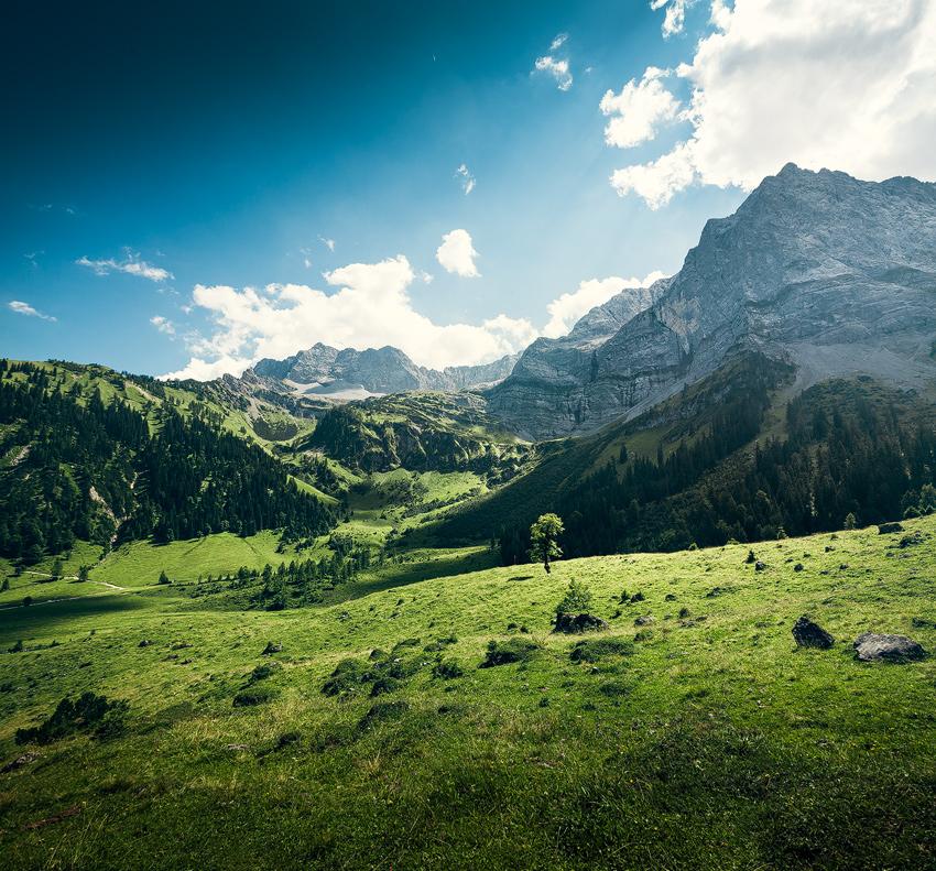 Engalm, Großer Ahornboden, Alpen, Karwendel, Hinterriß