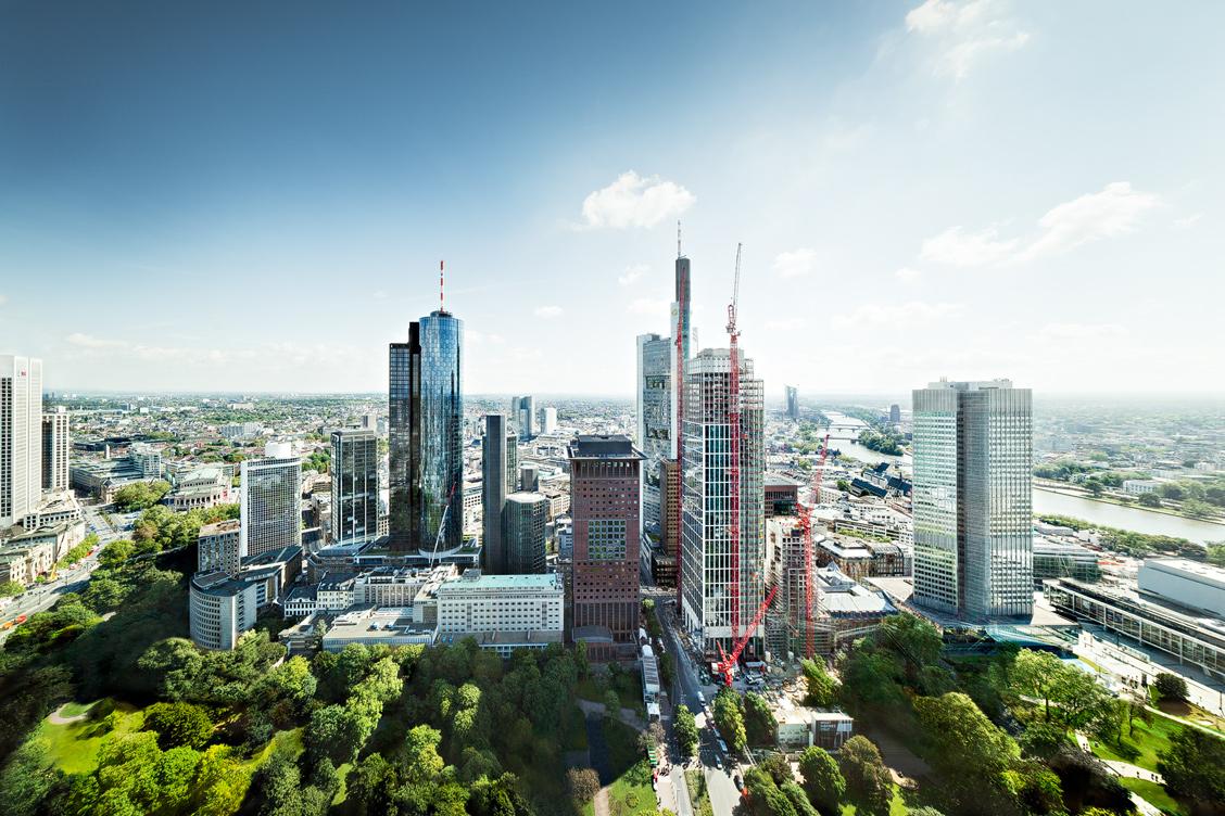 Frankfurt Innenstadt Aerial