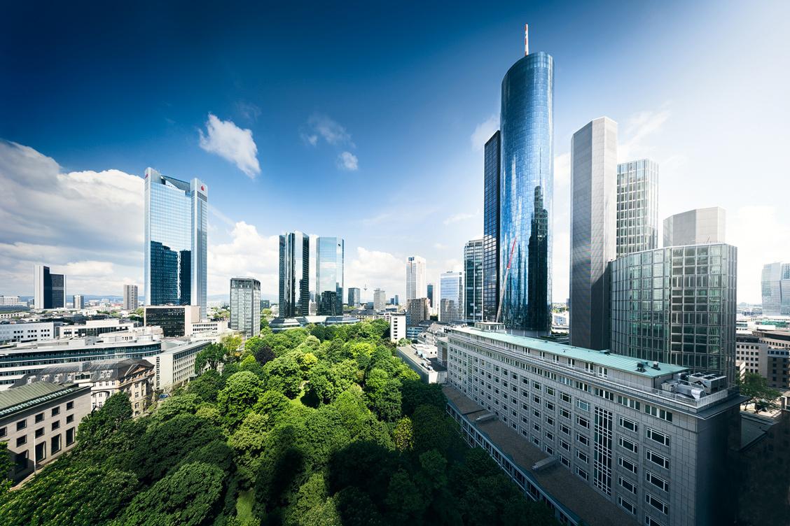 Frankfurt Luftaufnahme Skyline