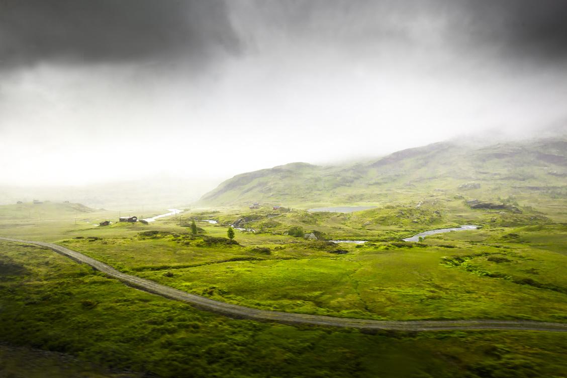 Norwegian foggy landscape