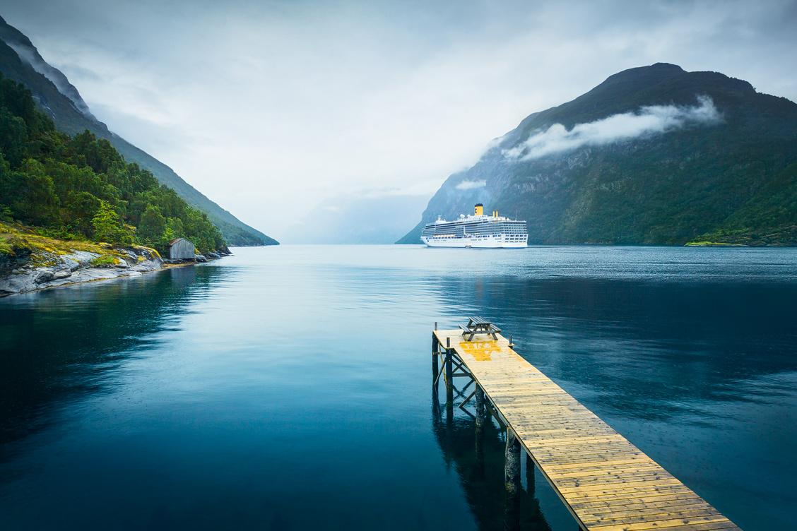 Hellesylt Fjord Cruiseship