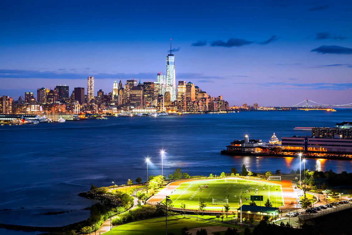Downtown at night – view from Weehawken
