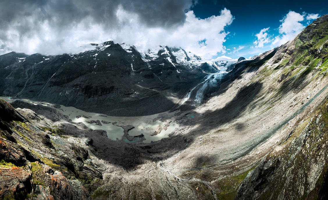 Ausblick von der Franz-Josefs-Höhe auf den Gletscher und den Großglockner