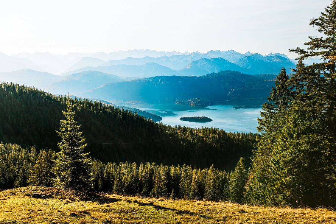 Ausblick auf den Walchensee