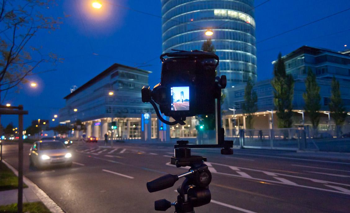 fotografieren während der blauen Stunde