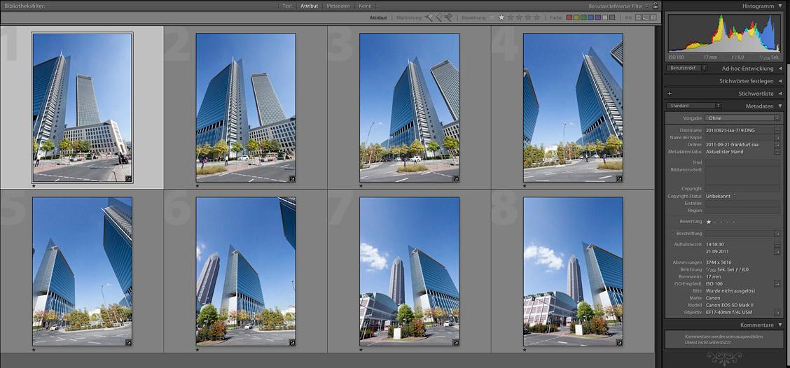 Frankfurt Panorama Einzelbilder