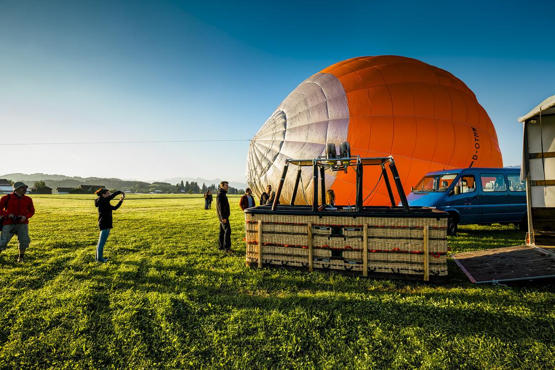 Ballonfliegen im Allgäu