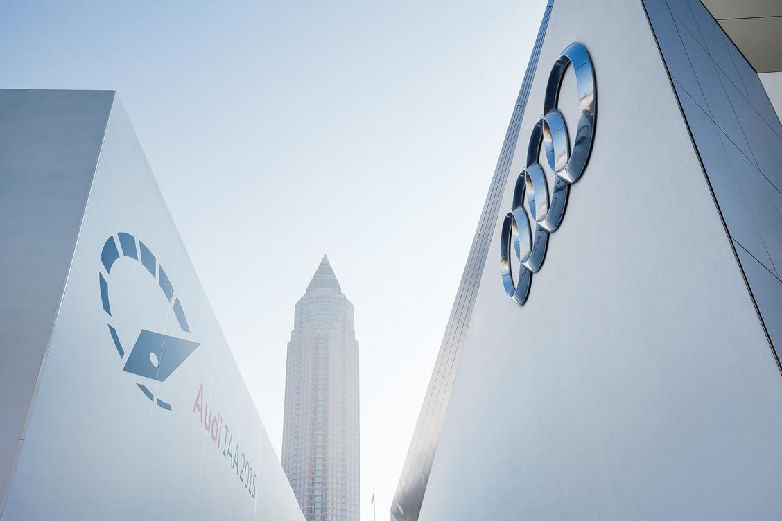 Der Messestand von Audi auf der IAA 2015 in Frankfurt