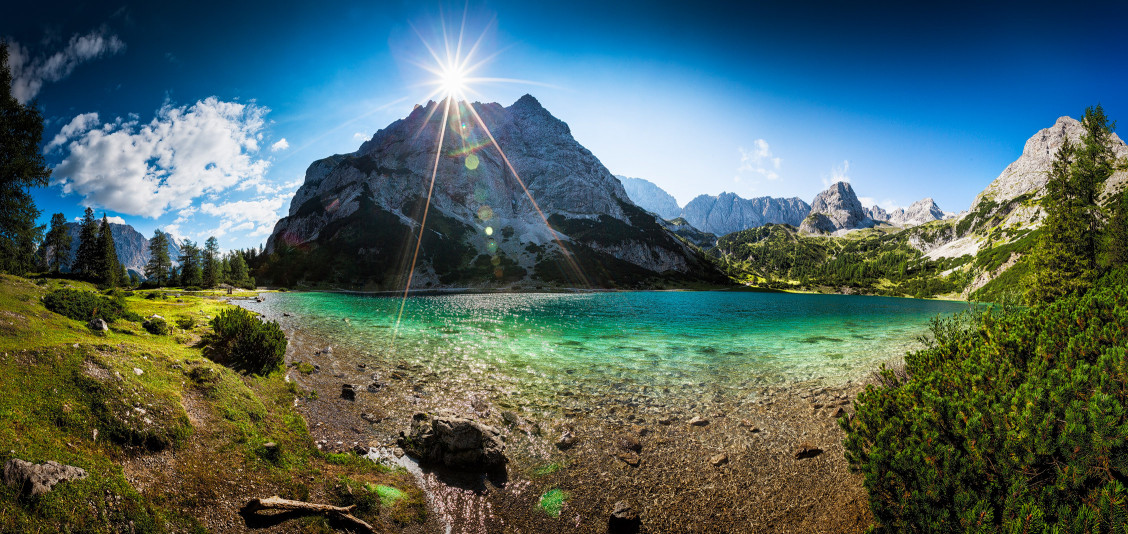 Seebensee Panorama im Sommer