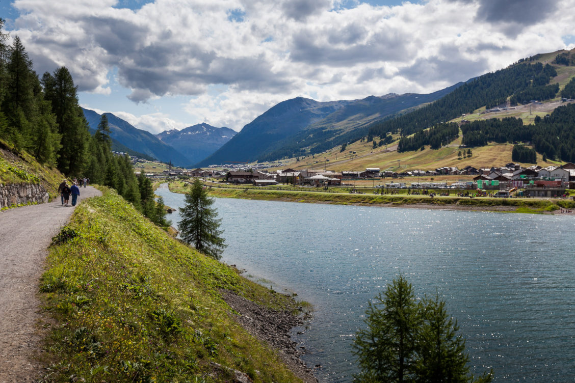 View on Livigno and Lago di Livigno