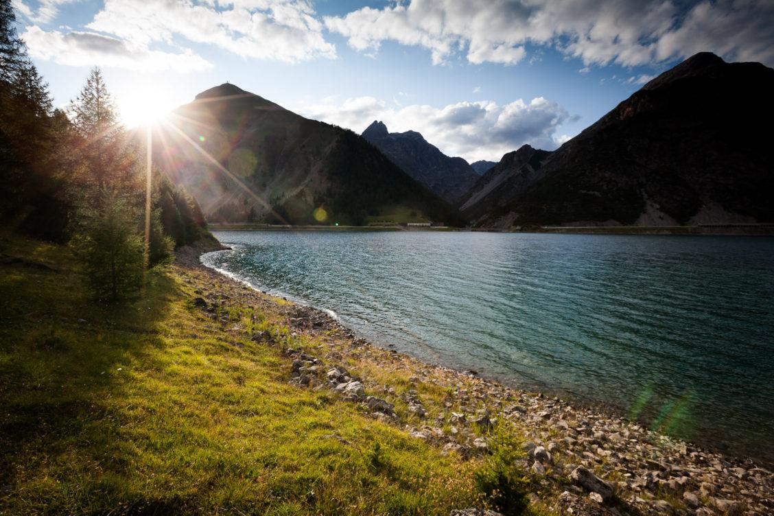Sunset lago di livigno