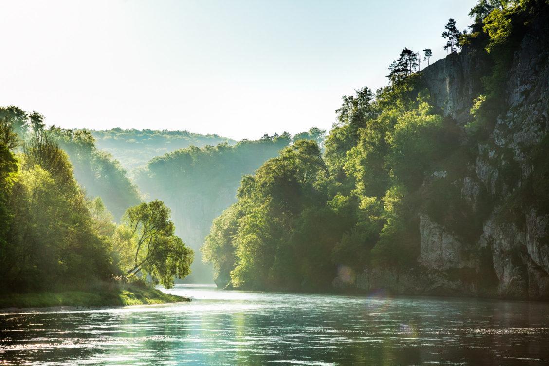 Donau Kloster Weltenburg im Morgenlicht