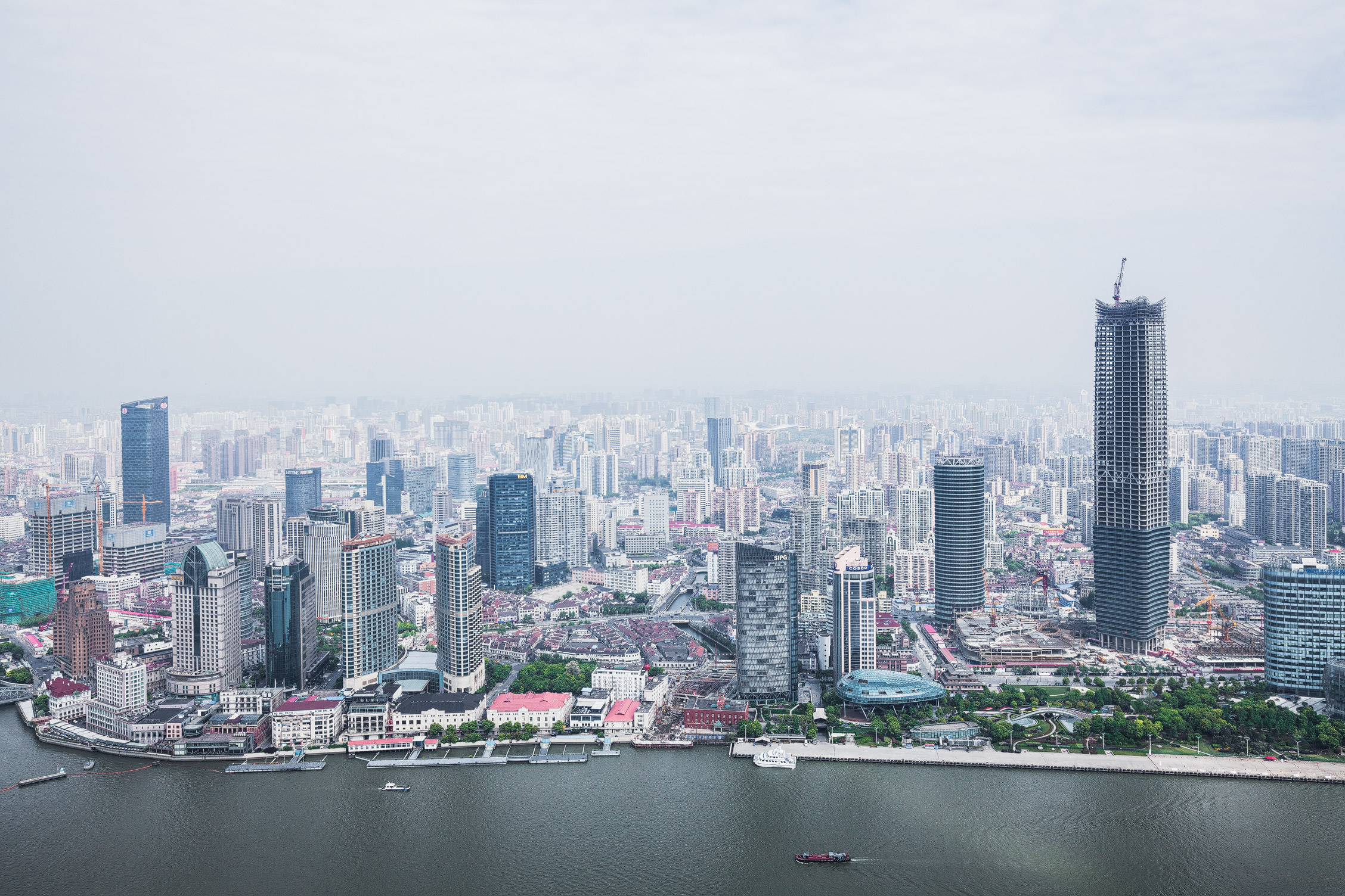 Shanghai Skyline Aerial