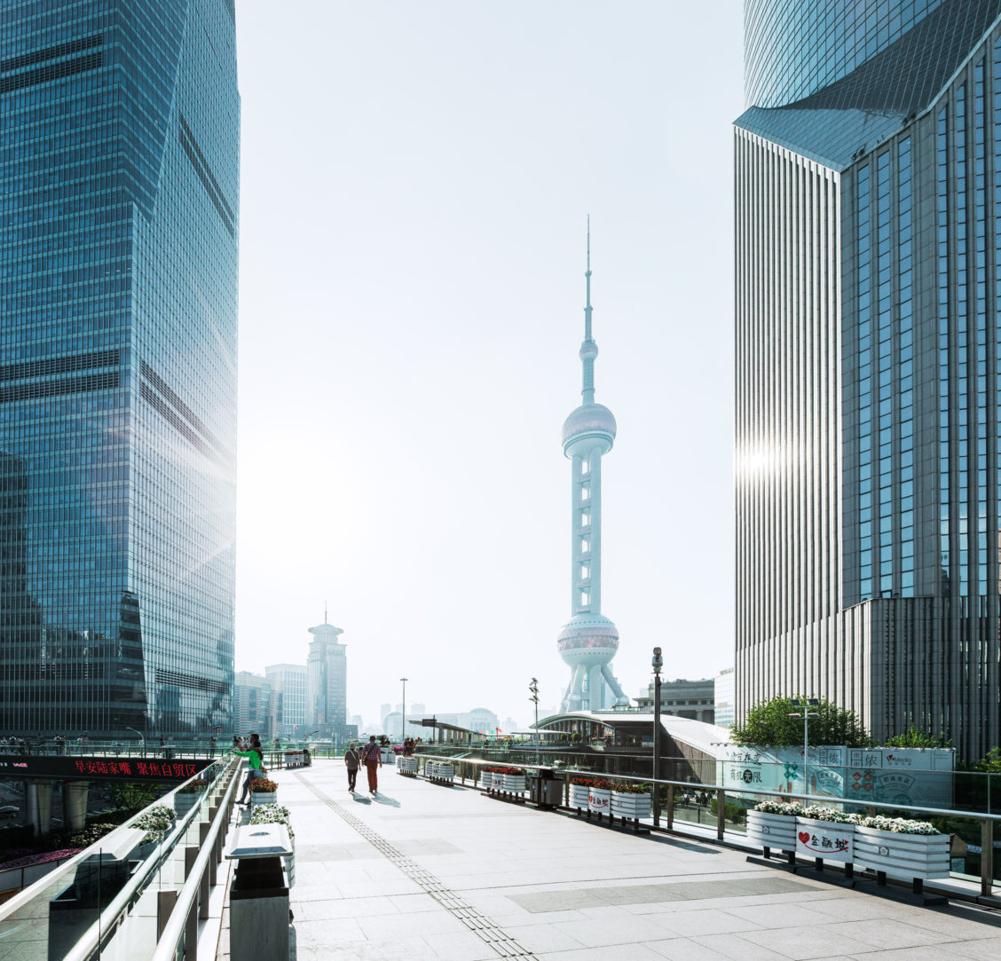 shanghai pedestrian bridge